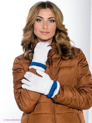 Перчатки Milana Style. Цвет: белый, синий