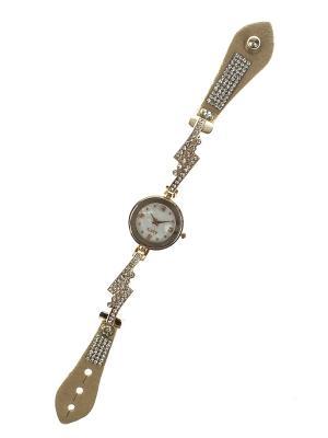 Браслет-часы Migura. Цвет: бежевый, золотистый, белый, серебристый