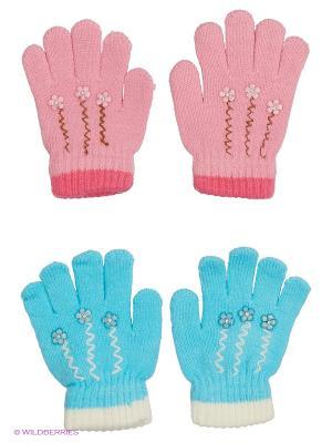 Перчатки FOMAS. Цвет: голубой, белый, бледно-розовый, розовый