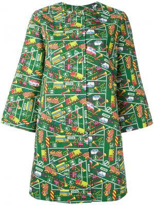 Пальто с принтом Transport Ultràchic. Цвет: многоцветный