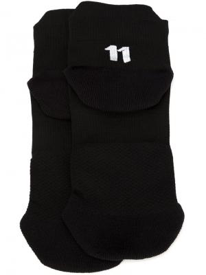 Носки с логотипом 11 By Boris Bidjan Saberi. Цвет: чёрный