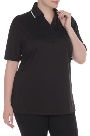 Рубашка Поло HARTWELL. Цвет: черный