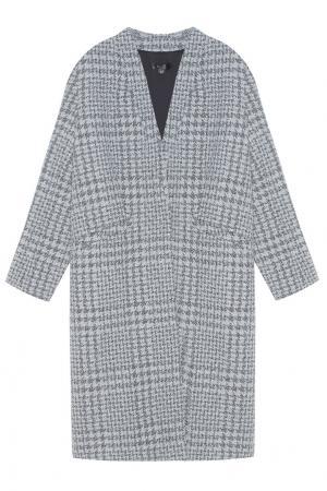 Шерстяное пальто ARnouveau. Цвет: серо-бежевый