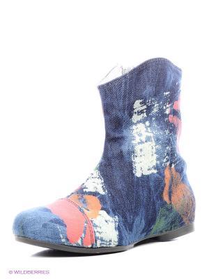 Полусапожки AZ-ART. Цвет: синий