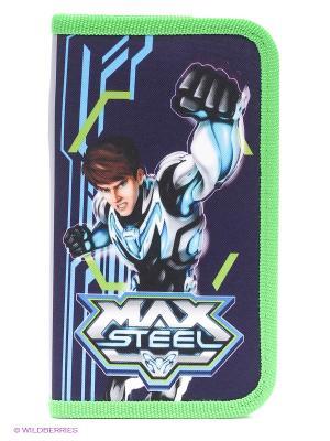 Пенал корпусный Max Steel Centrum. Цвет: темно-фиолетовый, голубой, зеленый