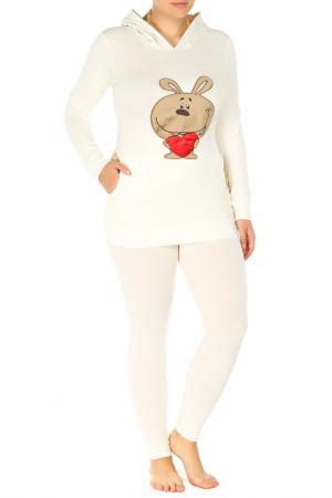 Пижама BON-AR. Цвет: молочный