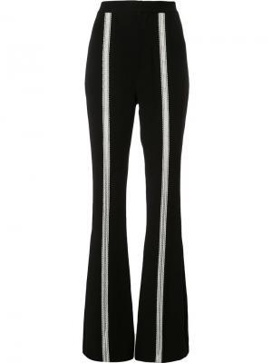 Расклешенные брюки с полосами Jonathan Simkhai. Цвет: чёрный