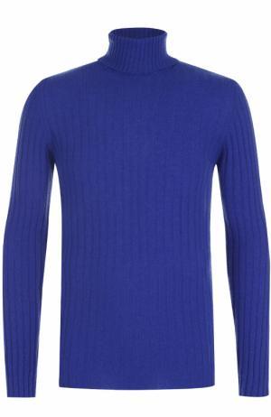 Шерстяной свитер фактурной вязки Daniele Fiesoli. Цвет: синий