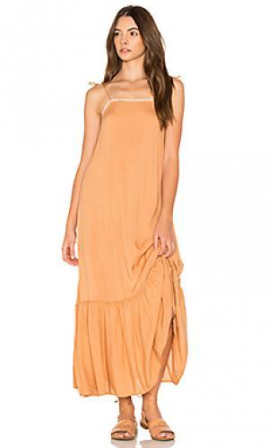 Платье-комбинация pipa Cleobella. Цвет: оранжевый