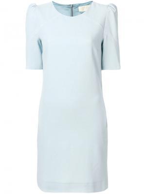 Платье со стоячими плечиками Goat. Цвет: синий
