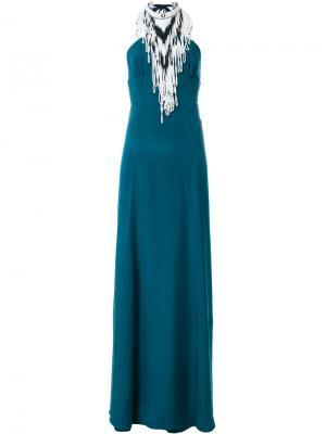 Платье с вырезом-петлей халтер Talitha. Цвет: зелёный