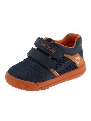 Кроссовки CHICCO. Цвет: синий, оранжевый