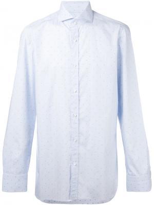 Рубашка в горох Borrelli. Цвет: синий