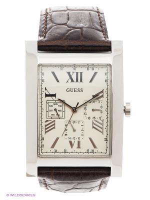 Часы GUESS. Цвет: белый, коричневый, серебристый