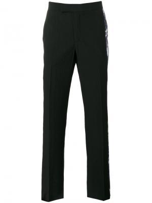 Классические брюки с принтом по бокам Yang Li. Цвет: чёрный