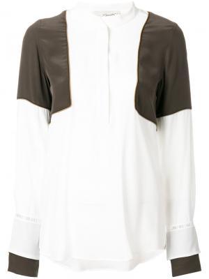 Блузка с панельным дизайном Antonia Zander. Цвет: телесный
