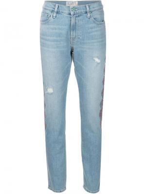 Embroidered skinny boyfriend jeans Sandrine Rose. Цвет: синий