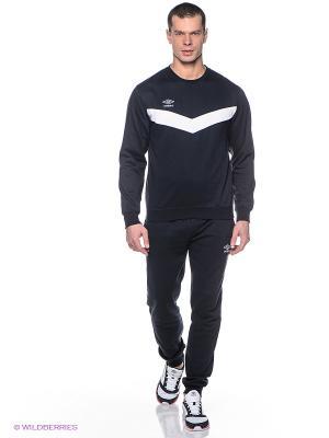 Спортивный костюм Umbro. Цвет: темно-синий, белый