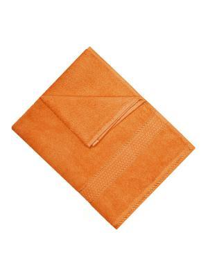 Махровое полотенце оранжевый 40*70-100% хлопок, УзТ-ПМ-111-08-27 Aisha. Цвет: оранжевый