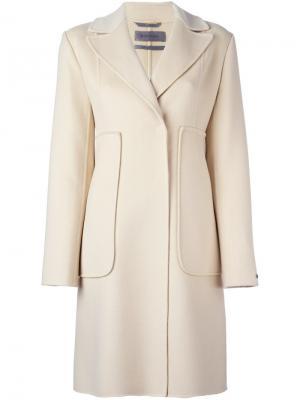 Классическое пальто Sportmax. Цвет: телесный