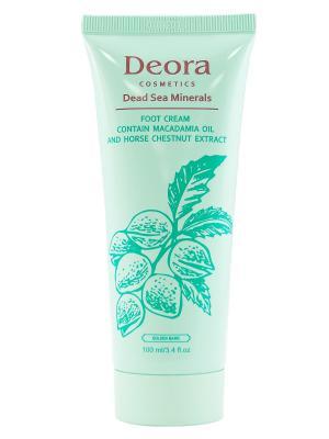 Крем для ног с маслом макадамии и экстрактор каштана конского, 100 мл. Deora Cosmetics. Цвет: бежевый
