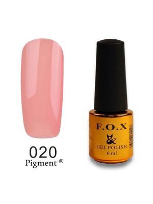 Гель-лак F.O.X Pigment 020, 6 ml. Цвет: розовый, персиковый