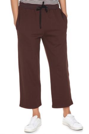 Укороченные брюки с поясом на резинке Cyrille Gassiline. Цвет: коричневый