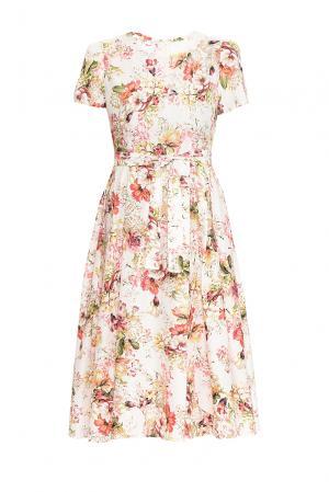 Платье из хлопка с поясом 131623 Villa Turgenev. Цвет: разноцветный