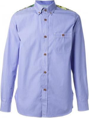 Рубашка с цветочным принтом Junya Watanabe Comme Des Garçons Man. Цвет: синий