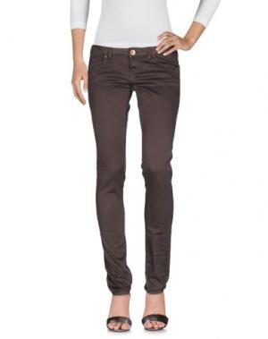 Джинсовые брюки NOVEMB3R. Цвет: темно-коричневый