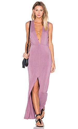 Макси платье vanessa Young Fabulous & Broke. Цвет: сиреневый