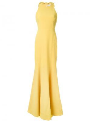 Платье макси Breakers Rebecca Vallance. Цвет: жёлтый и оранжевый