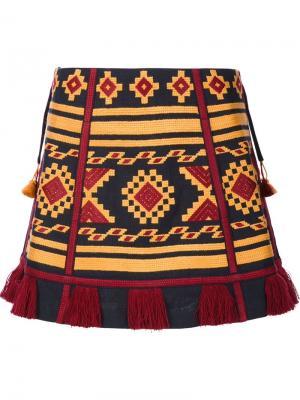 Tapestry mini skirt Vita Kin. Цвет: синий