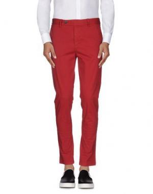 Повседневные брюки DAVID NAMAN. Цвет: красный