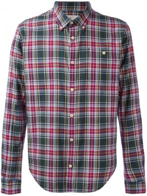 Рубашка на пуговицах Oscar Barbour. Цвет: зелёный