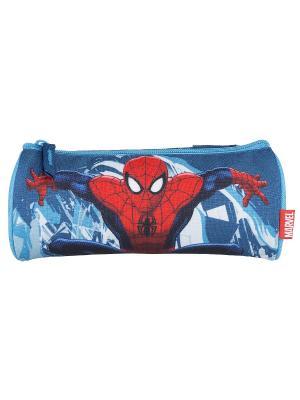 Пенал на молнии.Spider-man Classic Spider-man. Цвет: голубой, красный