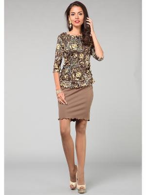 Блузка KATA BINSKA. Цвет: коричневый