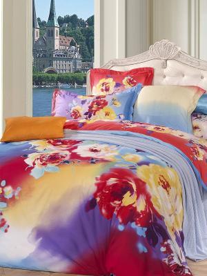 Комплект постельного белья Dream time. Цвет: малиновый, желтый, голубой