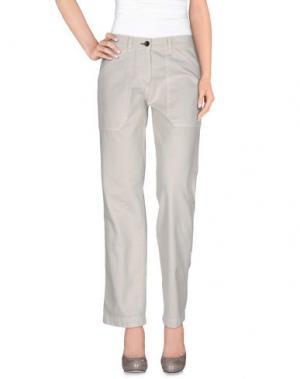 Повседневные брюки SHINE. Цвет: светло-серый