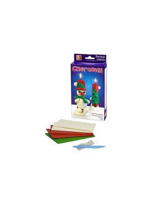 Набор Лепим свечи Снеговик Луч. Цвет: красный