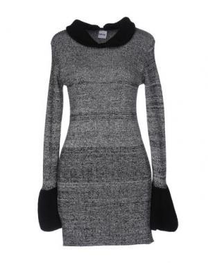 Короткое платье AKEP. Цвет: серый