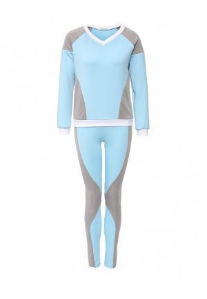 Костюм спортивный Allegri. Цвет: голубой