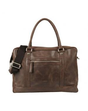 Деловые сумки D'AMICO. Цвет: темно-коричневый