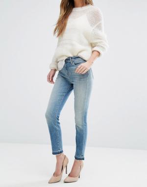 J Brand Укороченные джинсы с завышенной талией Alana. Цвет: синий