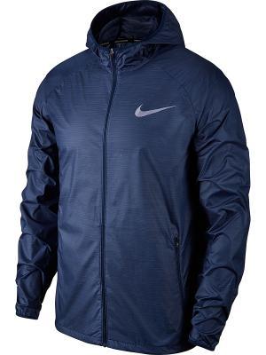 Ветровка M NK ESSNTL JKT HD Nike. Цвет: синий, белый