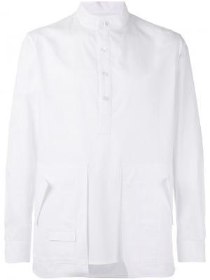 Рубашка с крупными карманами Letasca. Цвет: белый