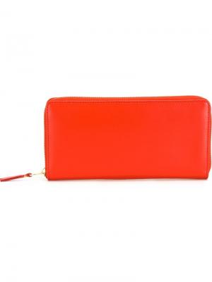Классический кошелек Comme Des Garçons Wallet. Цвет: жёлтый и оранжевый