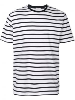 Полосатая футболка Sunspel. Цвет: белый