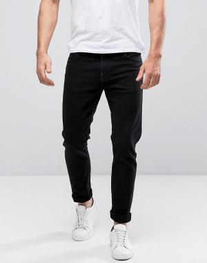 Weekday Черные зауженные джинсы Friday. Цвет: черный