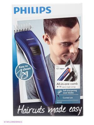 Машинка для стрижки волос Philips series 3000 QC5125/15. Цвет: синий, белый, черный
